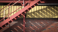 Step Shadows (Theen ...) Tags: adelaide bannister brick fireescape lumix metal mustard rails red shadow stairs steps theen torrensville wall yellow