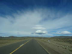 dsc03988 (Mr. Pi) Tags: road argentina ontheroad steppe dirtywindow hills clouds patagonia
