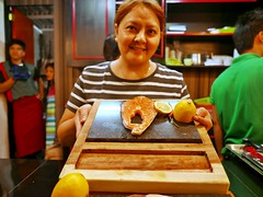 gourmet at the food park (DOLCEVITALUX) Tags: lumixlx100 gourmetfood people photoshoot food meal fish meat restaurant foodpark philippines pitstop congressionalavenue honey bunch resto honeybunchresto