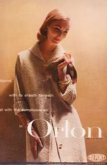 Orlon 1956 (barbiescanner) Tags: fashion vintagefashion 50s 50sfashion vintageads vintage retro orlon dupont evelyntripp