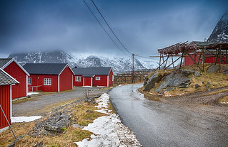 Travel Concepts and Ideas. Indise of the Classic Traditional Norwegian Fishing Hut Hamnoy in Norway.
