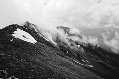 Mountainside (Goran Joka) Tags: ridge mountainside mountainridge blackwhite blackandwhite monochrome clouds snow serbia nature landscape outdoor mountain mountaineering