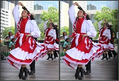 SpringWorld IFEST International Festival, Discovery Green, Houston, Texas 2017.04.15 (fossilmike) Tags: houston texas springworld ifest discoverygreen dance 3d crosseye