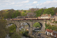 57305 Knaresborough Viaduct (DieselDude321) Tags: 57305 57311 class 57 drs direct rail services 1z68 0617 harrogate knaresborough north yorkshire viaduct chester