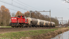 DB Cargo 6517 with some tank cars headed for the Port of Antwerp (Nicky Boogaard) Tags: dordrecht