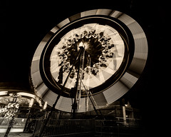 The Magic of the Mid-way, Surrey, BC (gks18) Tags: canon longexposure carnival midway night people nik lightroom amusementpark noiretblanc blackandwhite