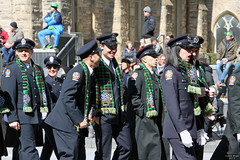 Sharing a joke (Can Pac Swire) Tags: toronto ontario canada canadian irish stpatricksday parade people man women woman men children bloorstreet west w avenueroad culture cultural aimg6992 professional firefighters celtic society fireman firemen firefighter