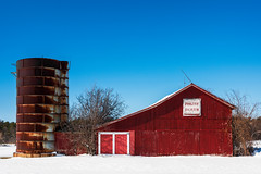 Philthy Pharm (G. Morgenweck) Tags: 2017 aau abandoned architecture barn blue color decay environment forgotten landscape locations newyork red rural season snow spring