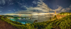 Golden Gate Panorama (stuanderson7) Tags: grass landscape flowers nature water mountains outdoor hills bay clouds california cityscape city lights sky nightscape sonya6000 stars samyang12mmf2 sanfranciscobay citylights longexposure