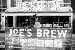 Joe's Brew (Harri Suvisalmi) Tags: bw monochrome fujifilm xf35mmf2rwr xt10 fujinon manila philippines taguig bgc bonifacio fair beer brew drink stall stand food