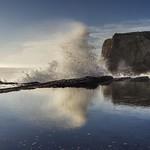 Play of nature at the coast of California thumbnail