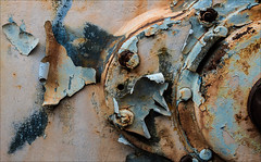 Alopecia (Junkstock) Tags: aged abandoned artifact artifacts altebenutztegegenstände abstract abstraction color corrosion corroded california campo decay decayed distressed industrial industry machinery machine old oldstuff oldusedobjects patina paint peelingpaint relic rust rusty rusted rustyandcrusty textures texture weathered