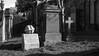Lord Kelvin Commemorative Stone (Joe Son of the Rock) Tags: grave graveyard cemetery necropolis glasgownecropolis lordkelvin williamthomson blackandwhite lordkelvincommemorativestone commemorativestone memorial sculpture gravestone headstone