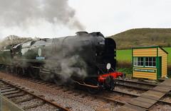 SR Battle of Britain Class 4-6-2 34053 Sir Keith Park (Colin Pinchen) Tags: southernrailway srlightpacificclass 462 battleofbritainclass 34053 sirkeithpark swanage dorset england steam train railway bulleid gala colin pinchen