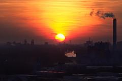 Industrial sunset (uwe1904) Tags: citylights deutschland halde himmel industriekultur lichter oberhausen pentaxk3 pottleuchten ruhrpott sonnenuntergang stadtlandschaft uwerudowitz nordrheinwestfalen de