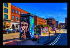 Shhh it's not raining  (David Bowie) (Kevin, Mr Manchester) Tags: architecture britishculture building canon1100d canon1855mm citycentre england englishpub hdr lancashire manchester northwest northernquarter photoborder pub