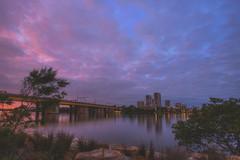 Morning Clouds (S♡C) Tags: sunrise morning clouds riverside bridge pink parramattariver sydney dawn
