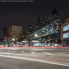 Via 57 West (20170324-DSC09466-Edit) (Michael.Lee.Pics.NYC) Tags: newyork night via57west longexposure lighttrails traffictrails architecture cityscape square sanitationdepartment bjarkeingles sony a7rm2 zeissloxia21mmf28