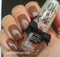 #oburrofugiu (Studio35) (katiaemanias) Tags: studio35 kefera unhas unha nails nailpolish nail katiaemanias marrom esmalte esmaltes