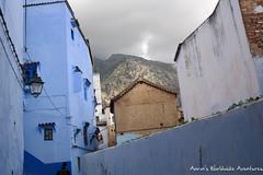 Dramatic mountains overlooking Chefchaouen Medina (adventurousness) Tags: bluecity chefchaouenthebluepearl thebluecity blue chaouen chefchaouen morocco mountains travel medina