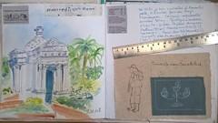 Pondicherry. Carnet. Page du mercredi 22 février 2017. (couleur.indigo) Tags: india inde carnet croquis aquarelle pondicherry pondy architecture paysagesurbains