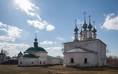Churches of Suzdal, Russia (Oleg.A) Tags: cathedral bell spring cross landscape russia church suzdal orthodox dome architecture outdoor rural evening villiage sunset catedral landscapes outdoors