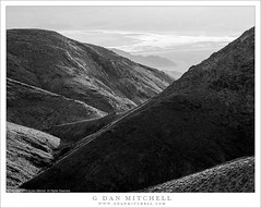 Death Valley From The Panamint Range (G Dan Mitchell) Tags: deathvalley national park gully panamint mountian range ridge salt flats blackandwhite monochrome desert landscape nature california usa north america