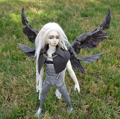 Cybernetic wings for a cyborg (Skyealloway) Tags: youth dark warrior bory luts mechanical wings cyborg souldoll souloid iraki