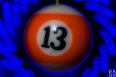 MM: Orange Blue - Unlucky (PaukSK) Tags: orange blue keychain canon eos m5 macro close up dof bokeh 13 thirteen spiral hmm mm monday macromondays macromonday blueorange technical leds led tiny ball billiard lucky unlucky