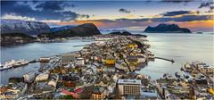 Early morning in Ålesund, Norway (AdelheidS photography) Tags: adelheidsphotography adelheidsmitt adelheidspictures aalesund ålesund alesund aksla mountaksla norway norge noorwegen norwegen norvegia noruega nordic norvege norden cityview fjord westcoast seaview sea coast coastal sunrise goldenhour