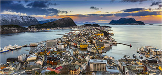 Early morning in Ålesund, Norway