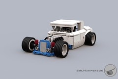 Show Stopper Rod front 34 - 10-wide - Lego (Sir.Manperson) Tags: lego hot rod lfa engine chassis ldd render yee