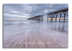 In Two Halves (Steven Peachey) Tags: seascape sea water beach sky clouds pier steetley movement exposure lightroom stevenpeachey hartlepool northeastcoast northeastengland uk england steetleypier leefilters lee09gnd ef1740mmf4l canon6d canon 2017 spring sand backwash explore explored
