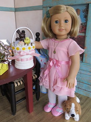 7. A Basket for Ruthie (Foxy Belle) Tags: american girl doll easter rabbit chocolate making kit 16 scale diorama basket mold ag 18 inch