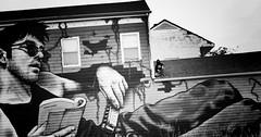 NOLA Street Art Graffiti (pamelagilpin19811) Tags: nola louisiana neworleans building graffiti art streetart monochrome blackandwhite