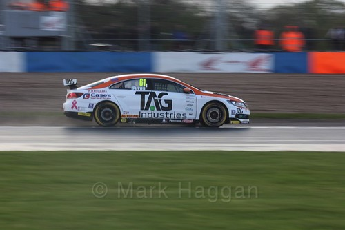 WIll Burns in race three at the British Touring Car Championship 2017 at Donington Park