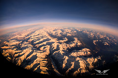 The mighty Alps (gc232) Tags: alps alpes aerial live from flight deck fisheye tokina 1017mm canon 6d sunset sunrise sun light snow mountains high altitude space iss view dark sky golfcharlie232 golden hour landscape plane airplane travel fly flying