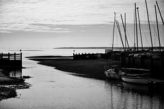 Hill Head (Bernie Condon) Tags: bw blackwhite canon 5div dslr hillhead hampshire solent boats southamptonwater harbour