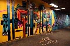 Only bikes (frankhurkuck) Tags: hannover norddeutschland nds niedersachsen deutschland germany graffiti tunnel unterführung fahrrad fahrradweg bike bikeway underpass subway