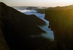 Kanangra Walls, 1952 (NettyA) Tags: 1950s 1952 australia billtomsett kanangrawalls nsw newsouthwales greaterbluemountains mist fog sandstone cliffs kanangraboydnationalpark bushwalkers ymcaramblers