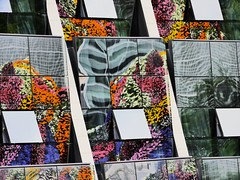 CLeaN. (Warmoezenier) Tags: baskenland basque bilbao bloemen clean colours flores flowers hotel kleuren reflections schoon spain window
