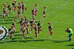 Kansas City Chiefs v Jacksonville Jaguars - Cheerleaders -  2016 (Dis da fi we (was Hickatee)) Tags: usa kansas arrow head arrowheadstadium arrowhead chief chiefs football americanfootball kansascity cheerleaders girls skirts shortskirts shortskirt