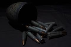 Incontinent Ordinance; Cups and Bullets (Hejemoni (@fbauzonx on Instagram)) Tags: red art geometric cup lines key shiny ceramics tea metallic low curves shapes glaze guns bullets ammo 39 linesandcurves 762