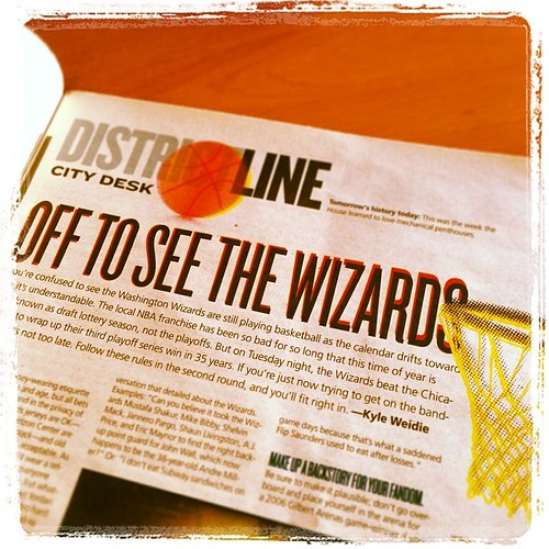 District Line: Off to See the #Wizards (inside the Wash. City Paper --- >>)