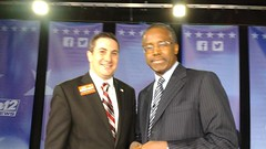 Dr. Ben Carson and Joe Kaufman at a Townhall Style Meeting hosted by Channel 12