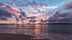 Nothing like the sun (Isidr☼ Cea) Tags: sea sky beach clouds mar dusk playa cielo nubes anochecer portodoson peleng8mmfisheye wwwisidroceacom