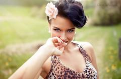 Gina Carla Cat Nature (Sebastian Köhler) Tags: portrait hot sexy girl smile amazing eyes gina 50s pinup schön ginacarla