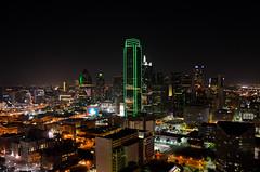 Dallas Skyline (axbecerra) Tags: city tower alex reunion skyline night america lights dallas nikon downtown view bank renaissance becerra d5100
