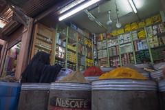 Zoco de especias (Alberto Prez Puyal) Tags: woman black veil market spice morocco marrakech