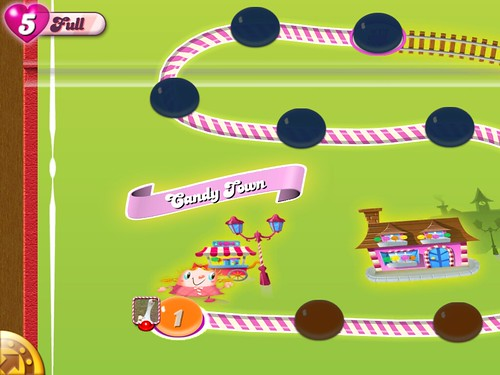 Candy Crush Saga Level Selection: screenshots, UI